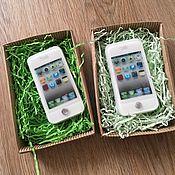 """Косметика ручной работы. Ярмарка Мастеров - ручная работа Мыло """"телефон айфон"""". Handmade."""