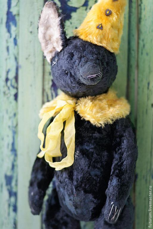 """Мишки Тедди ручной работы. Ярмарка Мастеров - ручная работа. Купить Чернобурый лис """"Фил"""". Handmade. Темно-серый, лиса"""