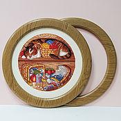 Наборы для творчества ручной работы. Ярмарка Мастеров - ручная работа Круглая рамка для вышивки. Handmade.