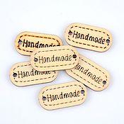 Элементы для скрапбукинга ручной работы. Ярмарка Мастеров - ручная работа Бирки деревянные, нашивки. Handmade.