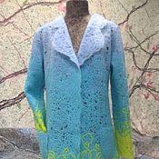 """Одежда ручной работы. Ярмарка Мастеров - ручная работа Кардиган ручной работы """"Лимон с бирюзой"""". Handmade."""