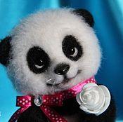 """Куклы и игрушки ручной работы. Ярмарка Мастеров - ручная работа Валяная игрушка: панда """"Мишель"""". Handmade."""