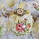 """Новый год 2017 ручной работы. Ярмарка Мастеров - ручная работа. Купить Новогодний набор  """"Шебби Роуз"""". Handmade. Лимонный"""