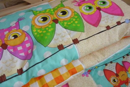 """Пледы и одеяла ручной работы. Ярмарка Мастеров - ручная работа. Купить Одеяло """"Соня"""". Handmade. Одеяло детское, для детской, совы"""