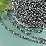 Материалы для творчества handmade. Livemaster - original item 50cm Rolo Chain 4mm Stainless steel (4925). Handmade.