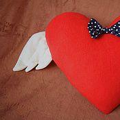 Для дома и интерьера ручной работы. Ярмарка Мастеров - ручная работа Подушка-сердце. Handmade.