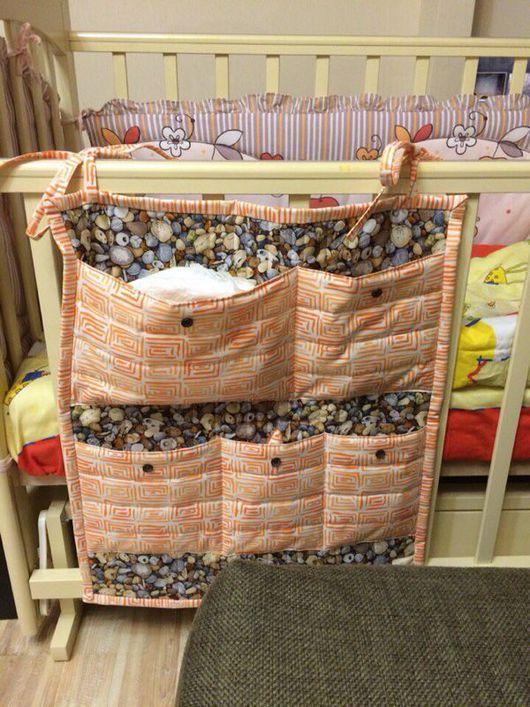 Детская ручной работы. Ярмарка Мастеров - ручная работа. Купить Кармашки на детскую кроватку. Handmade. Кармашки на кроватку, кармашки в детскую