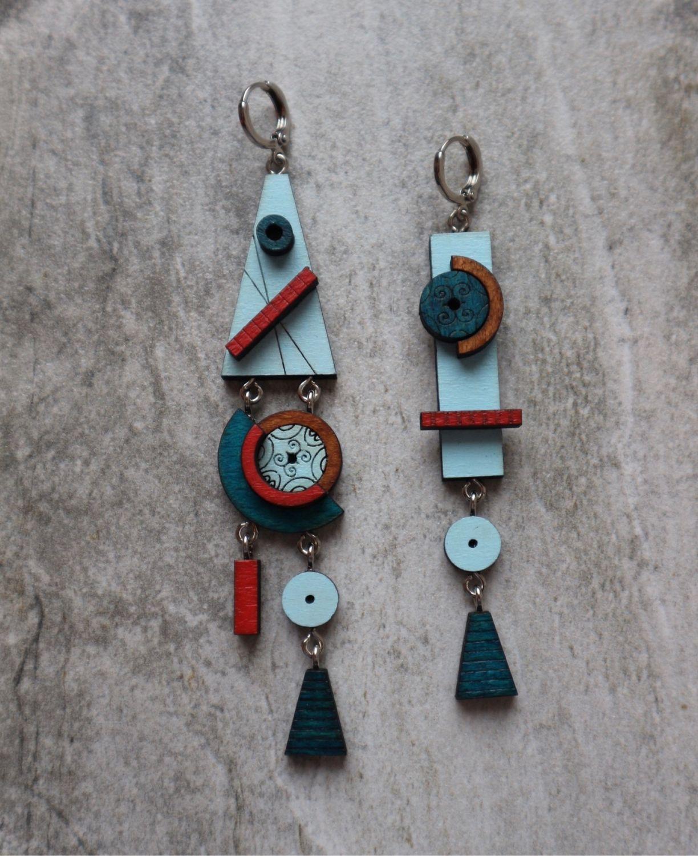 Asymmetric earrings, Earrings, Smolensk,  Фото №1