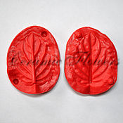 Материалы для творчества handmade. Livemaster - original item Silicone mold (Weiner) leaf, violet,bilateral. Handmade.