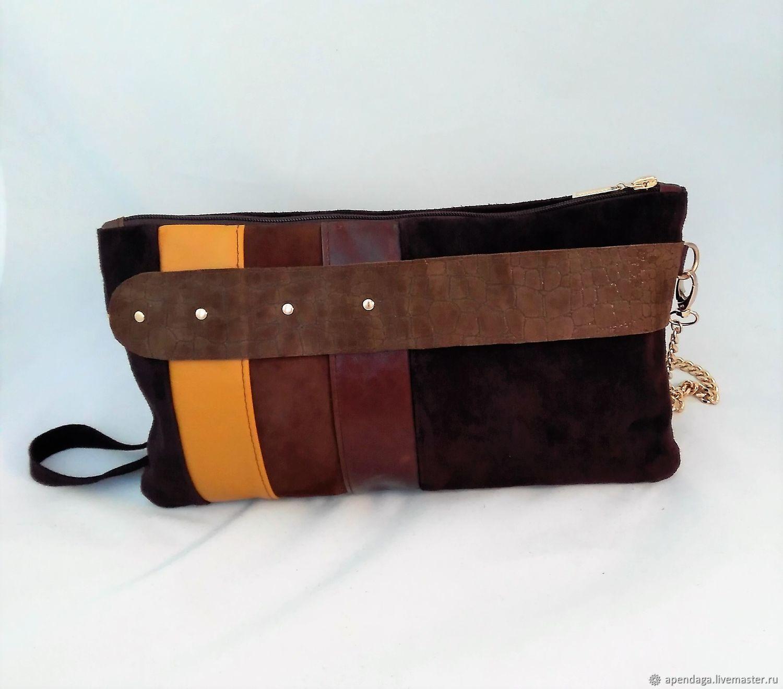 d497082b9ef68 Chocolate Brown Suede Bag