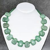 Украшения handmade. Livemaster - original item The author`s work. Natural green aventurine necklace. Handmade.
