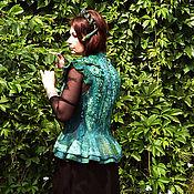 """Одежда ручной работы. Ярмарка Мастеров - ручная работа Жилет """"Малахитовое чудо"""" РЕЗЕРВ. Handmade."""