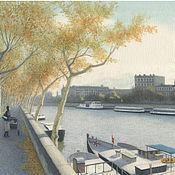 """Картины и панно handmade. Livemaster - original item Картины для интерьера в стиле прованс """"Paris. L`automne"""". Handmade."""