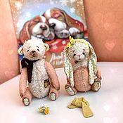 Куклы и игрушки ручной работы. Ярмарка Мастеров - ручная работа Тедди мишка и зайка. Handmade.