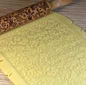 Для дома и интерьера handmade. Livemaster - original item Textured rolling pin with a pattern