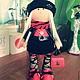 Куклы тыквоголовки ручной работы. Ярмарка Мастеров - ручная работа. Купить Интерьерная кукла - Бизнес леди. Handmade. Ярко-красный