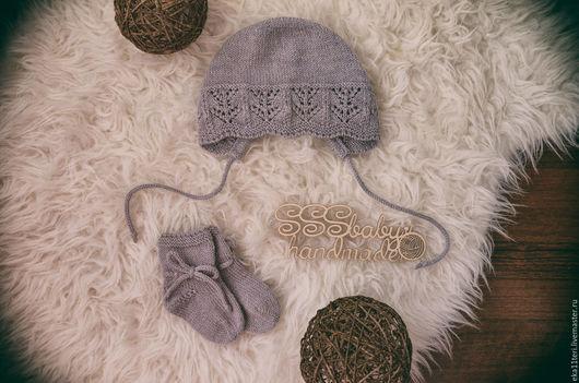 Одежда для девочек, ручной работы. Ярмарка Мастеров - ручная работа. Купить Чепчик и носочки для малышки. Handmade. Чепчик, комплект для девочки