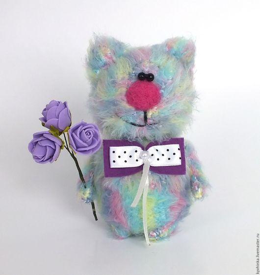 Игрушки животные, ручной работы. Ярмарка Мастеров - ручная работа. Купить Кот Радужный (вязаный кот, игрушка, подарок). Handmade.