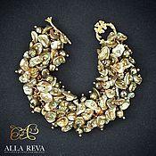 """Украшения ручной работы. Ярмарка Мастеров - ручная работа Браслет """"Gold pearl"""". Handmade."""