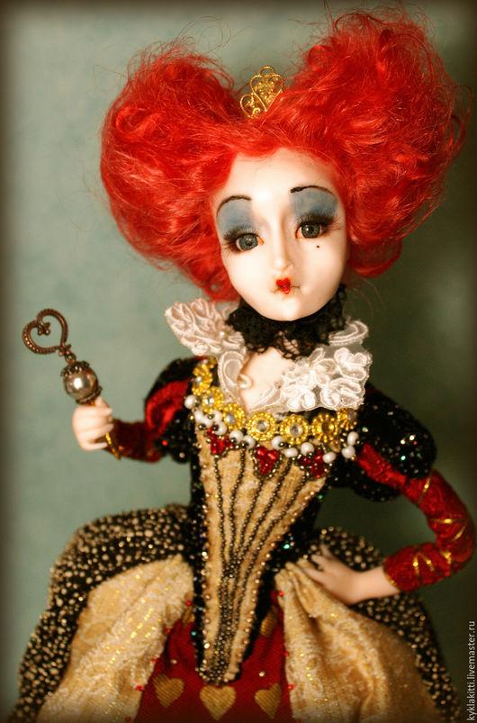 Коллекционные куклы ручной работы. Ярмарка Мастеров - ручная работа. Купить Красная королева. Handmade. Алиса в стране чудес, алиса
