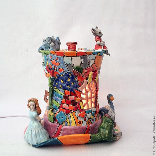 """Освещение ручной работы. Ярмарка Мастеров - ручная работа. Купить Ночник """"Шляпник"""". Handmade. Алиса в стране чудес, ночник, подсвечник"""