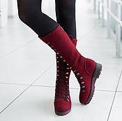 Обувь ручной работы handmade. Livemaster - original item Felted boots Bordeaux. Handmade.