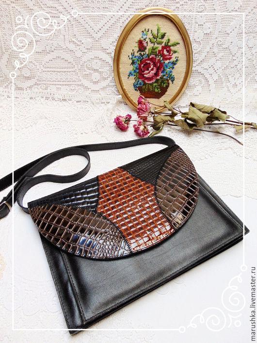 Винтажные сумки и кошельки. Ярмарка Мастеров - ручная работа. Купить Винтажная сумка через плечо,  Австрия 80-е г.. Handmade.