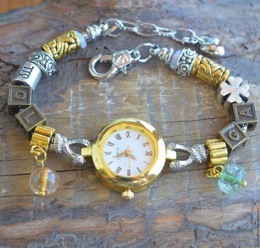 """Часы ручной работы. Ярмарка Мастеров - ручная работа. Купить Часы """"Именные"""" с браслетом в европейском стиле.. Handmade. Пандора стиль"""