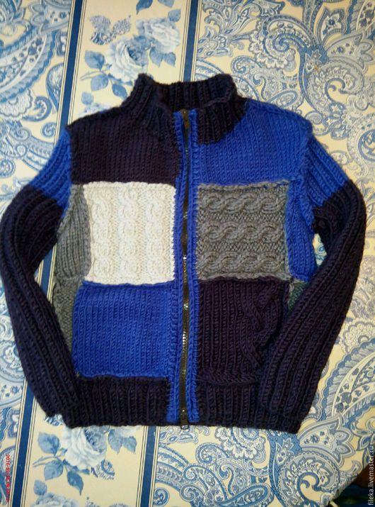 Одежда для мальчиков, ручной работы. Ярмарка Мастеров - ручная работа. Купить Джемпер для маленького мужчины. Handmade. Тёмно-синий, мальчик