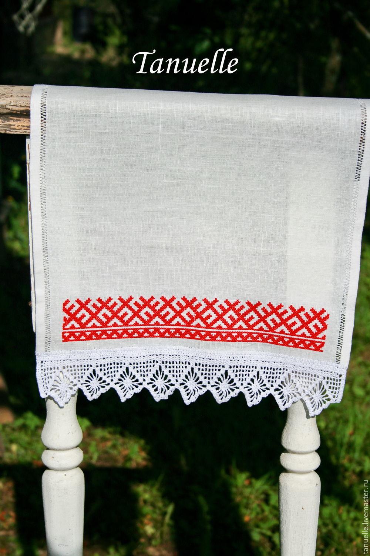 Вышивка полотенец в русском стиле