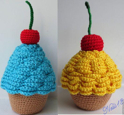 Вязаные сладости - Пирожное с вишней. Netli13