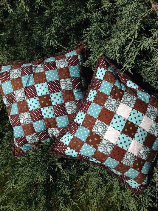 Текстиль, ковры ручной работы. Ярмарка Мастеров - ручная работа. Купить Подушки-подушки. Handmade. Разноцветный, пэчворк, подушка на диван
