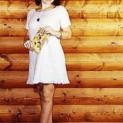"""Одежда ручной работы. Ярмарка Мастеров - ручная работа Вязанное платье с коротким рукавом """"Берёмушка"""". Handmade."""