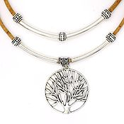Украшения handmade. Livemaster - original item ECO necklace cork tree of life handmade C0109w. Handmade.