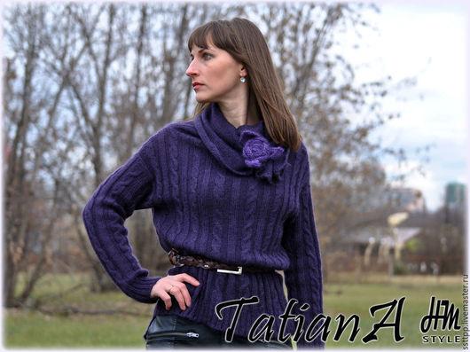 """Кофты и свитера ручной работы. Ярмарка Мастеров - ручная работа. Купить Вязаный  свитер """"Долгая осень"""". Handmade. Комбинированный, оверсайз"""