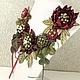 Комплекты украшений ручной работы. Ярмарка Мастеров - ручная работа. Купить Долина Пряной Ягоды. Колье, две броши - цветка. Handmade.