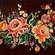 """Картины цветов ручной работы. Ярмарка Мастеров - ручная работа. Купить Картина """"Цветочные мотивы"""". Handmade. Коричневый, розы"""