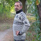 """Одежда ручной работы. Ярмарка Мастеров - ручная работа Свитер """"Снежинки"""" спицами. Handmade."""