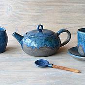 """Посуда ручной работы. Ярмарка Мастеров - ручная работа Чайный сервиз """"Утренние грезы"""". Handmade."""