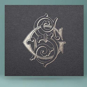Свадебный салон ручной работы. Ярмарка Мастеров - ручная работа Монограмма, свадебная полиграфия. Handmade.