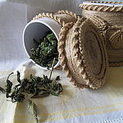 Для дома и интерьера ручной работы. Ярмарка Мастеров - ручная работа Баночка для сухих трав. Handmade.