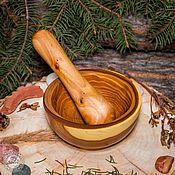 Посуда handmade. Livemaster - original item Mortar and pestle for grinding herbs, spices, etc.. Siberian Elm #ST1. Handmade.
