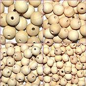 Бусины ручной работы. Ярмарка Мастеров - ручная работа Бусина деревянная неокрашенная 10-12-14-16-18-20-24-30 мм. Handmade.