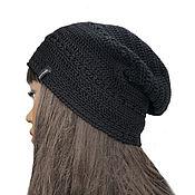 handmade. Livemaster - original item Lini cotton Black Panther Hat. Handmade.