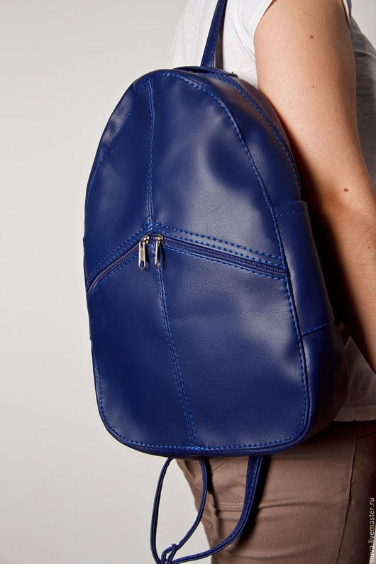Рюкзаки ручной работы. Ярмарка Мастеров - ручная работа. Купить Темно-синий рюкзак. Handmade. Тёмно-синий, лаконичный рюкзак
