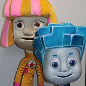 Куклы и игрушки ручной работы. Ярмарка Мастеров - ручная работа Фиксики Симка и Нолик театральная пара. Handmade.