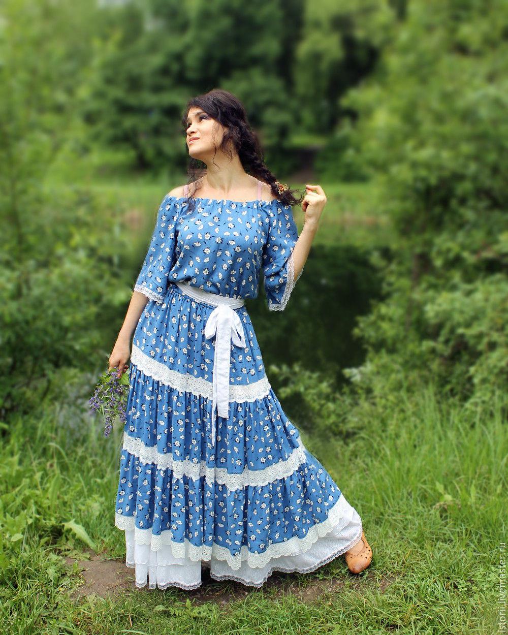 Штапельное платье своими руками