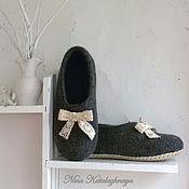 Обувь ручной работы. Ярмарка Мастеров - ручная работа Валяные тапочки Кружево. Handmade.