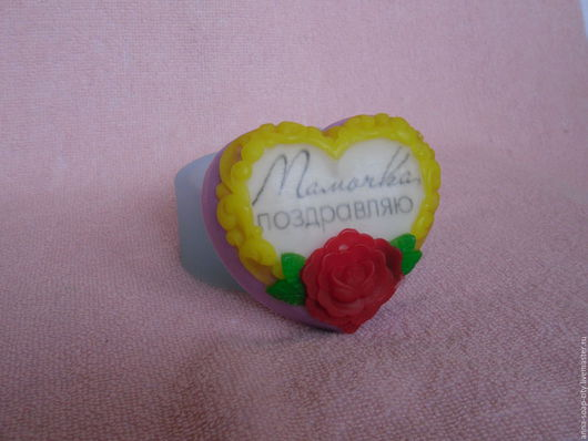 """Другие виды рукоделия ручной работы. Ярмарка Мастеров - ручная работа. Купить Силиконовая форма для мыла """"Цветочное сердце"""". Handmade."""