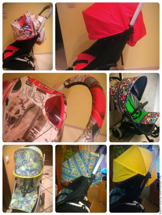 Аксессуары для колясок ручной работы. Ярмарка Мастеров - ручная работа. Купить текстиль для колясок. Handmade. Комбинированный, текстиль, аксессуары для колясок